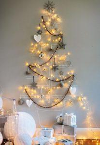 Fairy lights Christmas Tree | 10 Last Minute DIY Christmas Decorations | Expressing Life