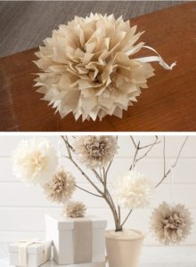 DIY Tissue Paper Pom Poms | 10 Last Minute DIY Christmas Decorations | Expressing Life