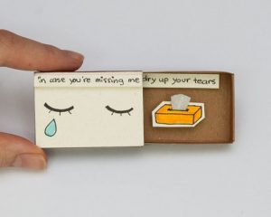 Cute DIY Matchbox Cards for Missing you