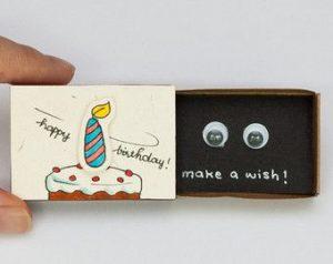 Cute DIY Matchbox Cards for Birthday