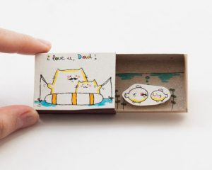 Cute DIY Matchbox Cards for Fathers Day