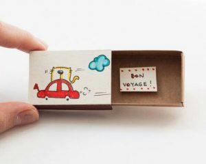 Cute DIY Matchbox Cards for Journey Bon Voyage
