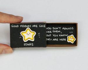 Cute DIY Matchbox Cards for Best Friend