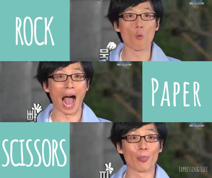 tool-less family games, party games, rock paper scissors